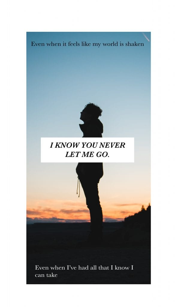 You Never Let Me Go