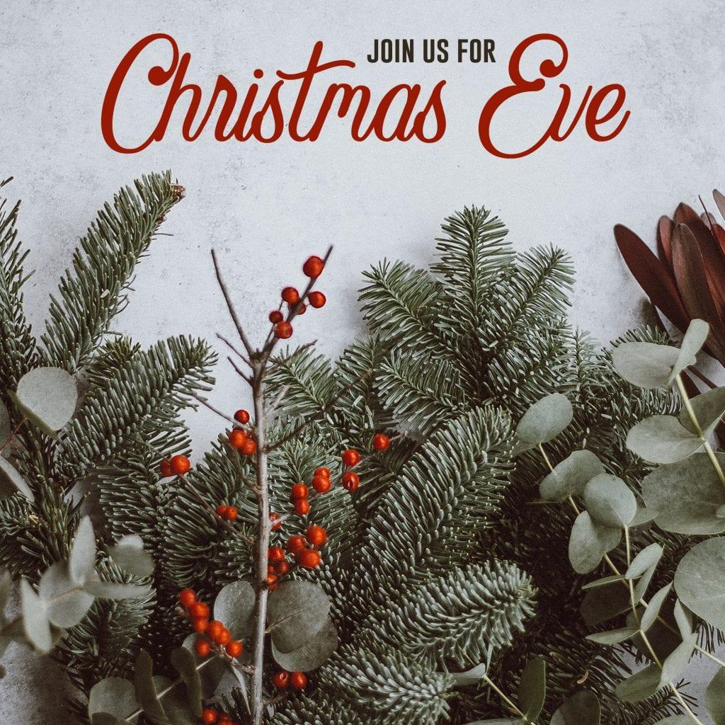 Christmas Eve Service Reminder